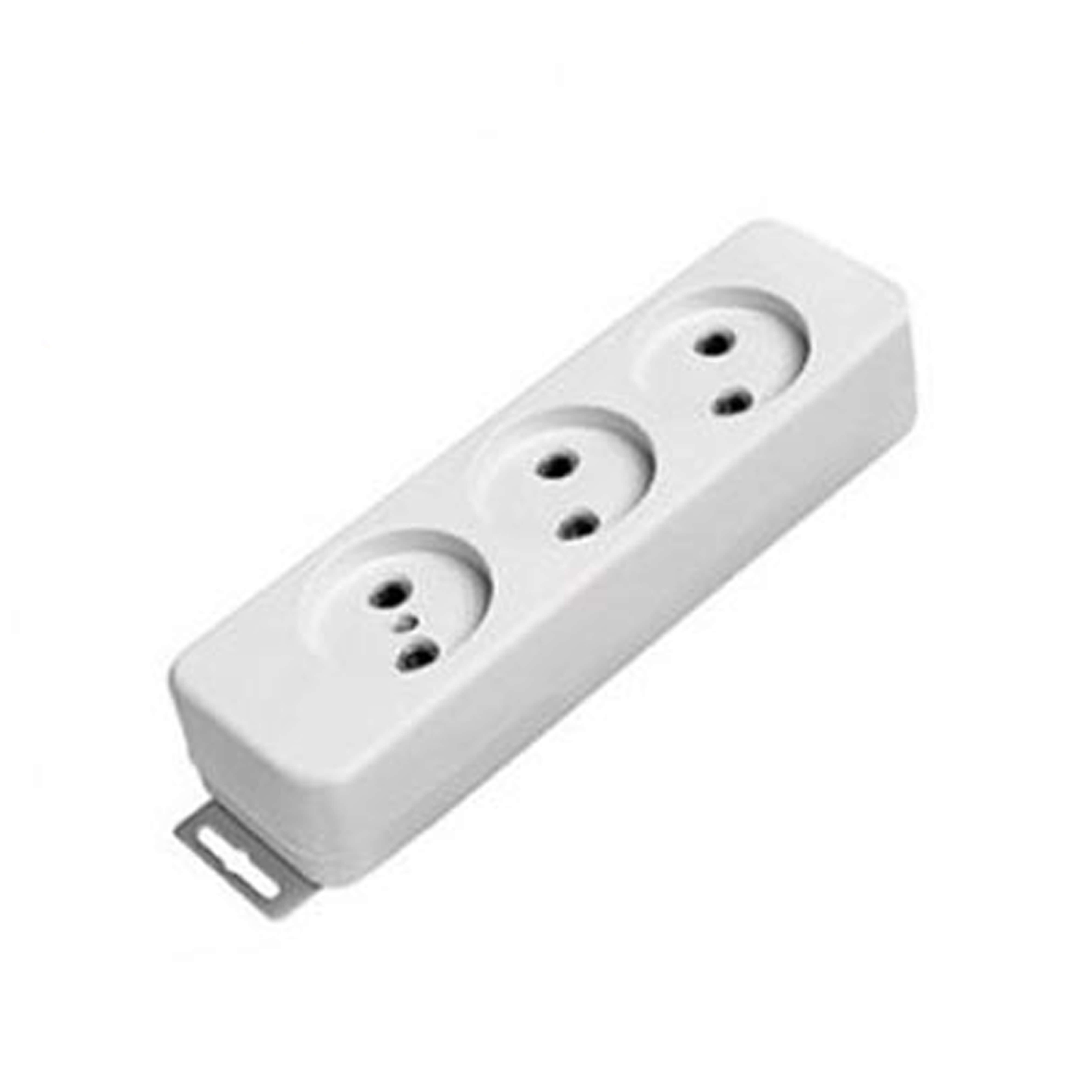 چند راهی برق 3 خروجی بدون ارت بدون کلید پارت الکتریک