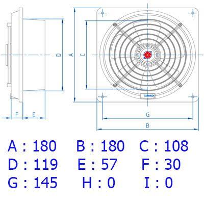 هواکش لوله ای 12 سانت توربو 2000 دور دمنده(VPH-12S2S)