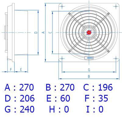 هواکش لوله ای 20 سانت توربو ۲۰۰۰ دور دمنده (VPL-20S2S)