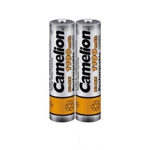 باتری نیم قلمی 1.2 ولت شارژی 2 عددی کملیون (NH-AAA1100BP2)