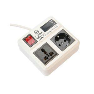 چند راهی برق و محافظ 2 خروجی ارتدار بدون کابل گلدن الکترونیک