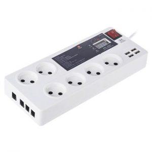 محافظ 8 خانه با پورت USB با قابلیت خط تلفن گلدن الکترونیک