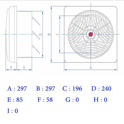 هواکش لوکس 20 سانت 1400 دور دمنده (VSL-20C4S)