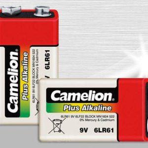 باتری 9 ولت پلاس آلکالاین کملیون