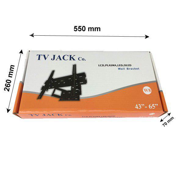 پایه دیواری تلویزیون تی وی جک مدل W8 ( 43 تا 65 اینچ)